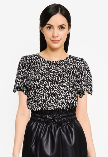 Vero Moda black Ohanna Short Sleeve Top BEE43AAB6F39F7GS_1