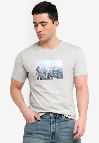 MANGO Man grey Message Cotton T-Shirt 8C4C5AA4DD3DF4GS_1