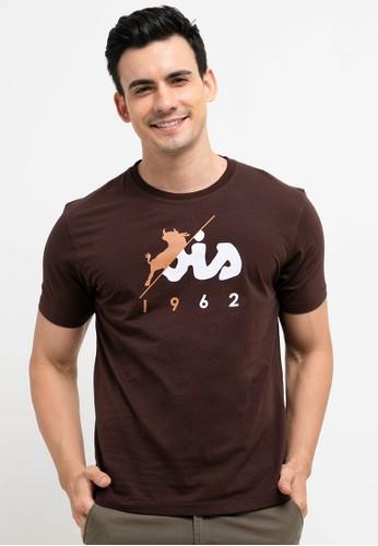 Lois Jeans brown Cotton T-Shirt C0AEAAAABF85DEGS_1