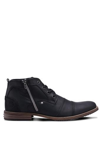 Dune London black Captains Boots 7858CSH0145146GS_1