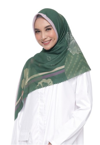 Panasia pink and green PANASIA X KAINREPUBLIK - Ayana Green, Superfine (Superfine Voal Hijab Premium) F5EADAA13AC1B1GS_1