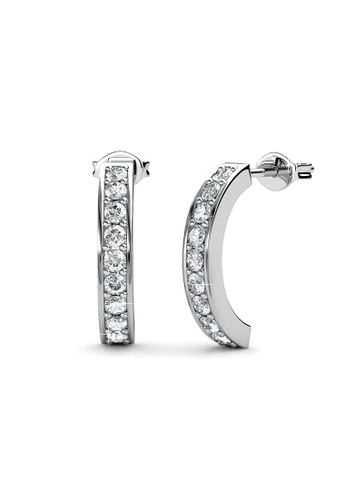 Her Jewellery silver Her Jewellery Arc Earrings with 18K Gold Plated HE210AC84UJZSG_1