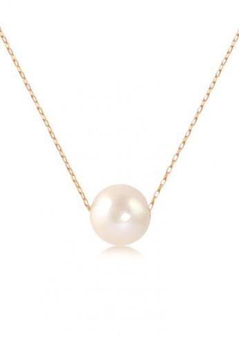 YOUNIQ gold YOUNIQ-Basic Korean Pearly Necklace (Gold) 7E391AC34B2D26GS_1