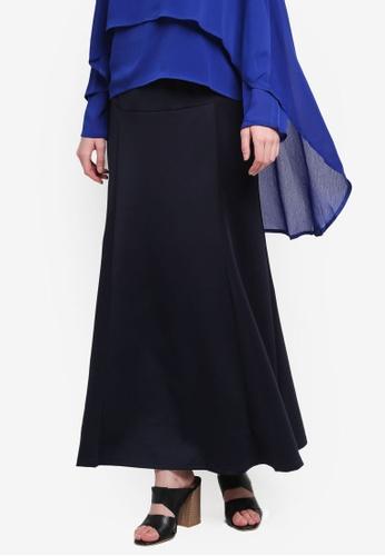 BYN blue Adjustable Long Skirt B25FEAA4C024F3GS_1