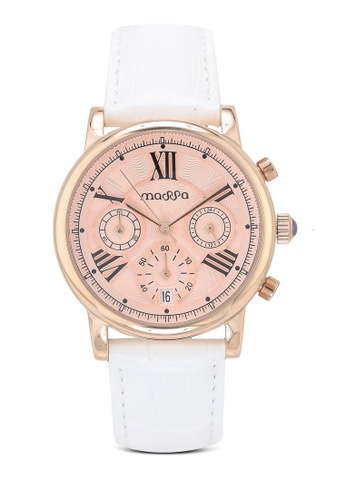 Massa Collections red Ingenious Rose (White) Ladies Chronograph Leather Watch A9BD9AC2DB66C4GS_1