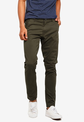 Brave Soul brown Cotton Twill Stretch Chino Pants 3EC3FAAA8239B2GS_1