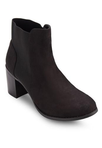 Zesprit香港門市immer 彈性粗跟仿麂皮踝靴, 女鞋, 鞋