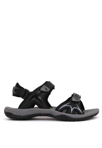 World Balance black Everglade Mens Sports Sandals 182D0SH432BB3BGS_1