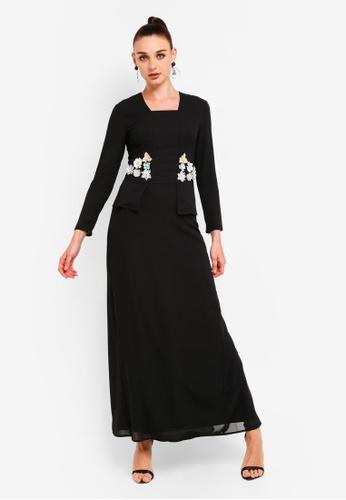 Embellished Kebaya Set from Zalia in Black