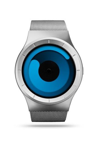 ZIIIRO black and blue and silver Mercury Chrome Ocean Watch F766CACF030964GS_1