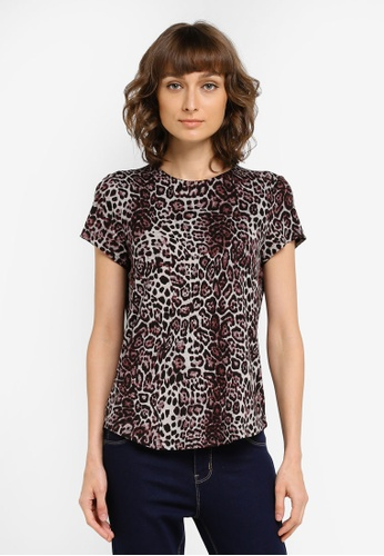 Vero Moda black and brown Kenya Top VE975AA0SKQKMY_1
