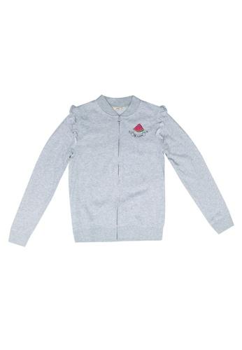 FOX Kids & Baby grey Patch Bomber Jacket 762E8KA3066528GS_1