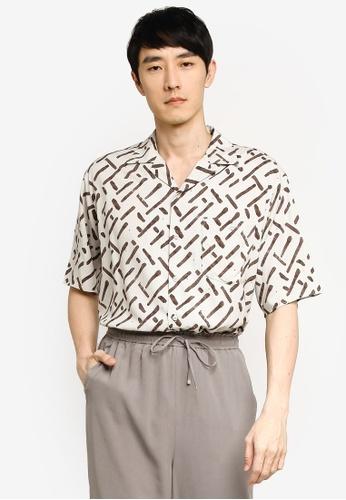 GLOBAL WORK white Printed Resort Shirt 732D1AA0873884GS_1