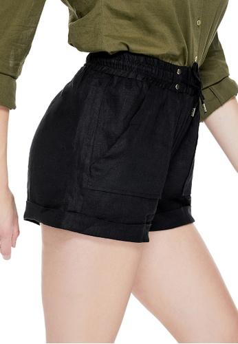 GUESS black Guess Sadia Linen Shorts 804E3AAE264203GS_1
