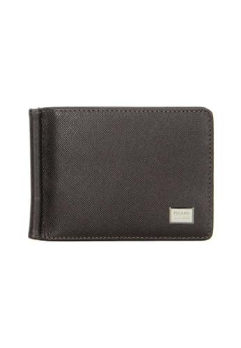 Picard brown Saffiano Wallet with Money Clip PI517AC74EEJSG_1