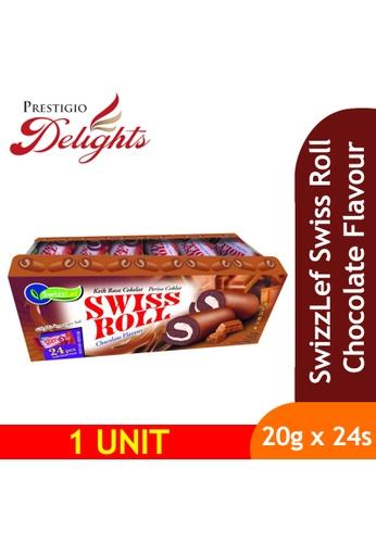 Prestigio Delights black SwizzLef Swiss Roll Cake Chocolate Flavour 20g x 24pcs 090A6ES1268A08GS_1