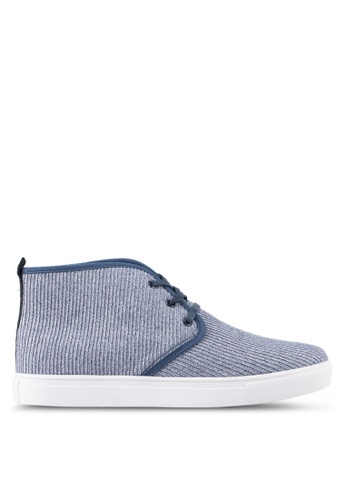 JAXON blue Fabric High Top Sneakers 3A694SH3F61536GS_1