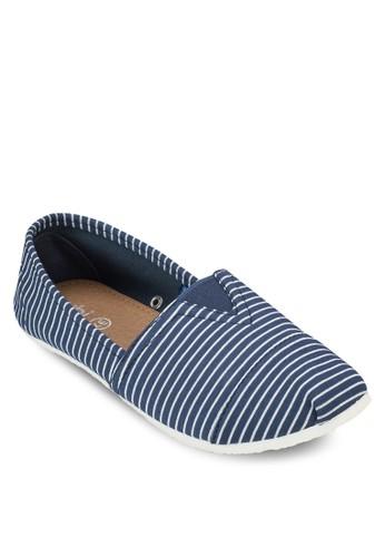 Jennesprit品牌介绍a 條紋懶人鞋, 女鞋, 鞋