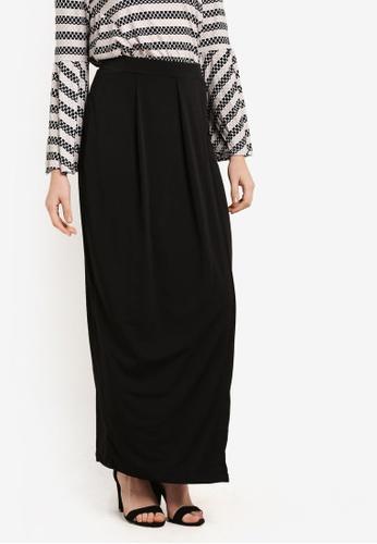 Zariya black Long Skirt 75A46AABAFD655GS_1