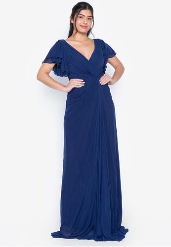 Tantease navy Oliva Evening Dress 52C16AA8CE8535GS_1