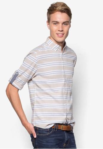 條esprit 台北紋長袖襯衫, 韓系時尚, 梳妝