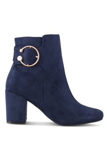 ZALORA navy Side Buckle Detail Boots CAD6FSH85EFC27GS_1
