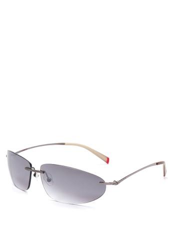 Shop Levi\'s Rimless Frame Rectangle Sunglasses [ LV1001362 ] Online ...