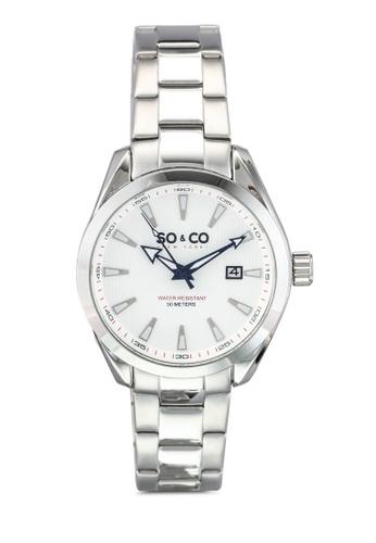 SO&CO silver Madison Watch 5039B SO540AC0SHLNMY_1