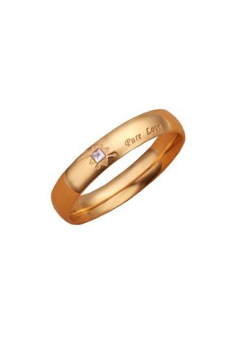 Sopistikada gold Pure Love Plated Ring SO776AC0J6DUPH_1