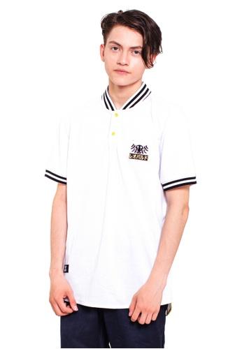 Reoparudo white RPD Baseball Neck Polo Shirt (White) 05D19AA70D339BGS_1