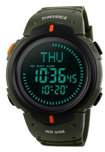 Digitec green Skmei Digital Compass - Jam Tangan Pria - Green Resin - 1231-B DI108AC64AULID_1