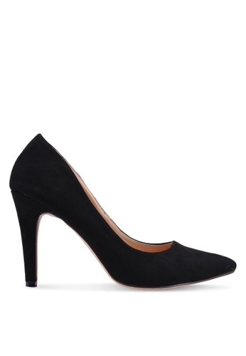 Nose 黑色 麂皮高跟鞋 646A8SHFDFEDEDGS_1