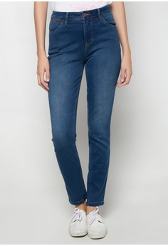 Tapered Leg Denim Pants