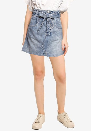 Free People blue East Of Eden Mini Skirt DFFC8AA5F4A29CGS_1