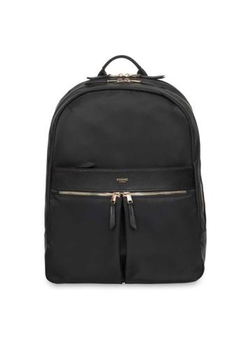 "knomo black Beaufort 15"" Laptop Backpack (Black/Gold Hardware) 4A7DBACD8A8E1DGS_1"