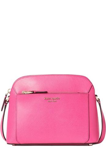 Kate Spade pink Kate Spade Louise Medium Dome Crossbody Bag in Shocking Magenta D9CC6AC70B797AGS_1