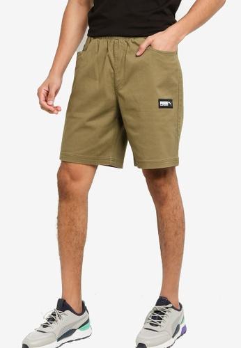Puma 綠色 Fusion Shorts 723EBAA74FED2EGS_1
