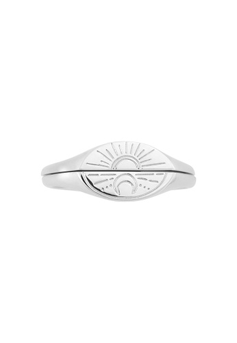 Wanderlust + Co silver Sun & Moon Silver Ring Set C5286AC02A9662GS_1