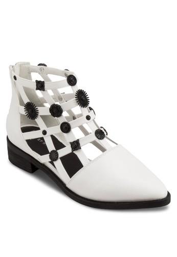 Rain esprit暢貨中心造型鉚釘鏤空踝靴, 韓系時尚, 梳妝