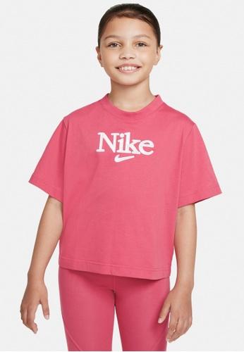 Nike red Girls' Sportswear T-Shirt 76AC0KA36AF672GS_1