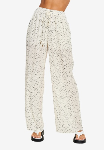 The Fated white Calin Wide Legs Pants 3436EAA97F3883GS_1