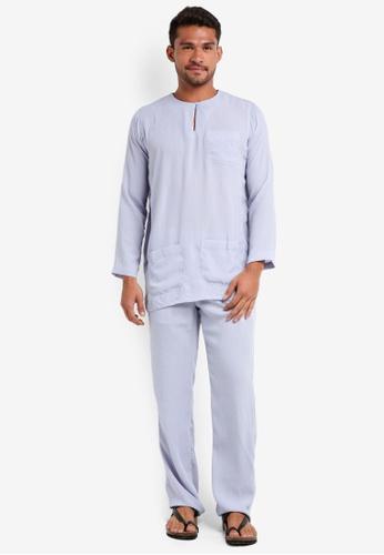Lubna blue Baju Melayu Teluk Belanga C3323AA19EB848GS_1