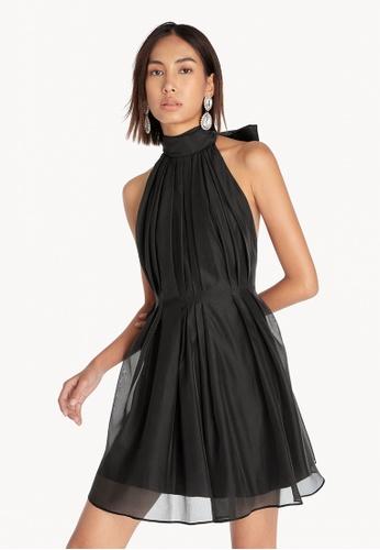 Pomelo black Halter Neck Open Back Dress - Black 89A82AAC735748GS_1