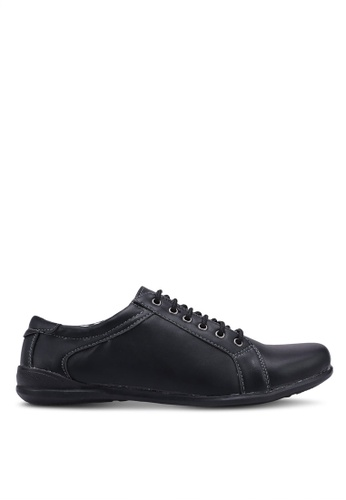 Rocklander black Faux Leather Sneakers 90F57SHA44307AGS_1