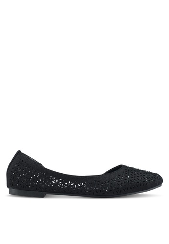 Mimosa black Perforated Flats F4E95SH719BA31GS_1