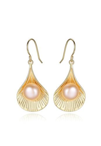 A.Excellence pink Premium Pink Pearl Elegant Earring 740EBACEEEC184GS_1