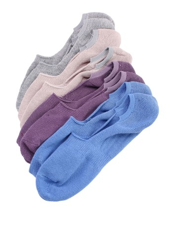 UniqTee multi Pack Of 4 Solid Invisible Socks 85FB1AAA61CA5BGS_1
