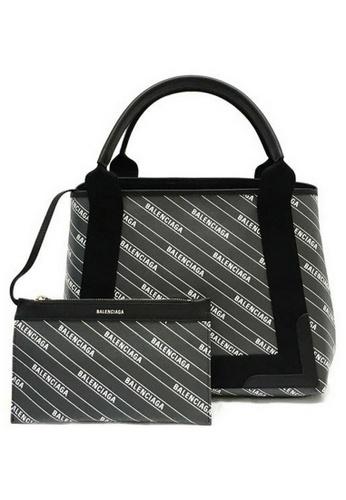 Balenciaga black Balenciaga NAVY CABAS XS Shoulder Bag in Black,Grey 1FAE7AC86DE212GS_1
