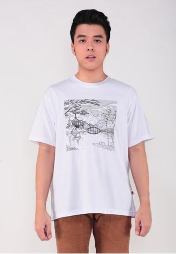 GatsuOne white Matsuda t-shirt CC91DAA9B6AFF1GS_1
