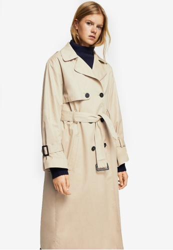 Mango brown Double Breasted Trench Coat MA193AA0RQX2MY_1